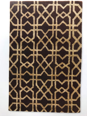 AE3469FIP Aspire Wool with Silk XFTS Brown/Beige 5x8 Rug