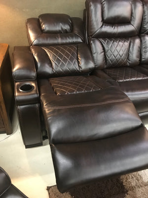 865FIA Adjustable Headrest Power Reclining Sofa and Loveseat