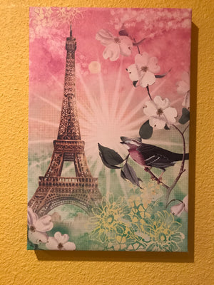 Canvas Eiffel Tower Art