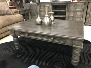 Mic Mar Cen Marlo FI Cocktail and 2 End Tables Set Grey