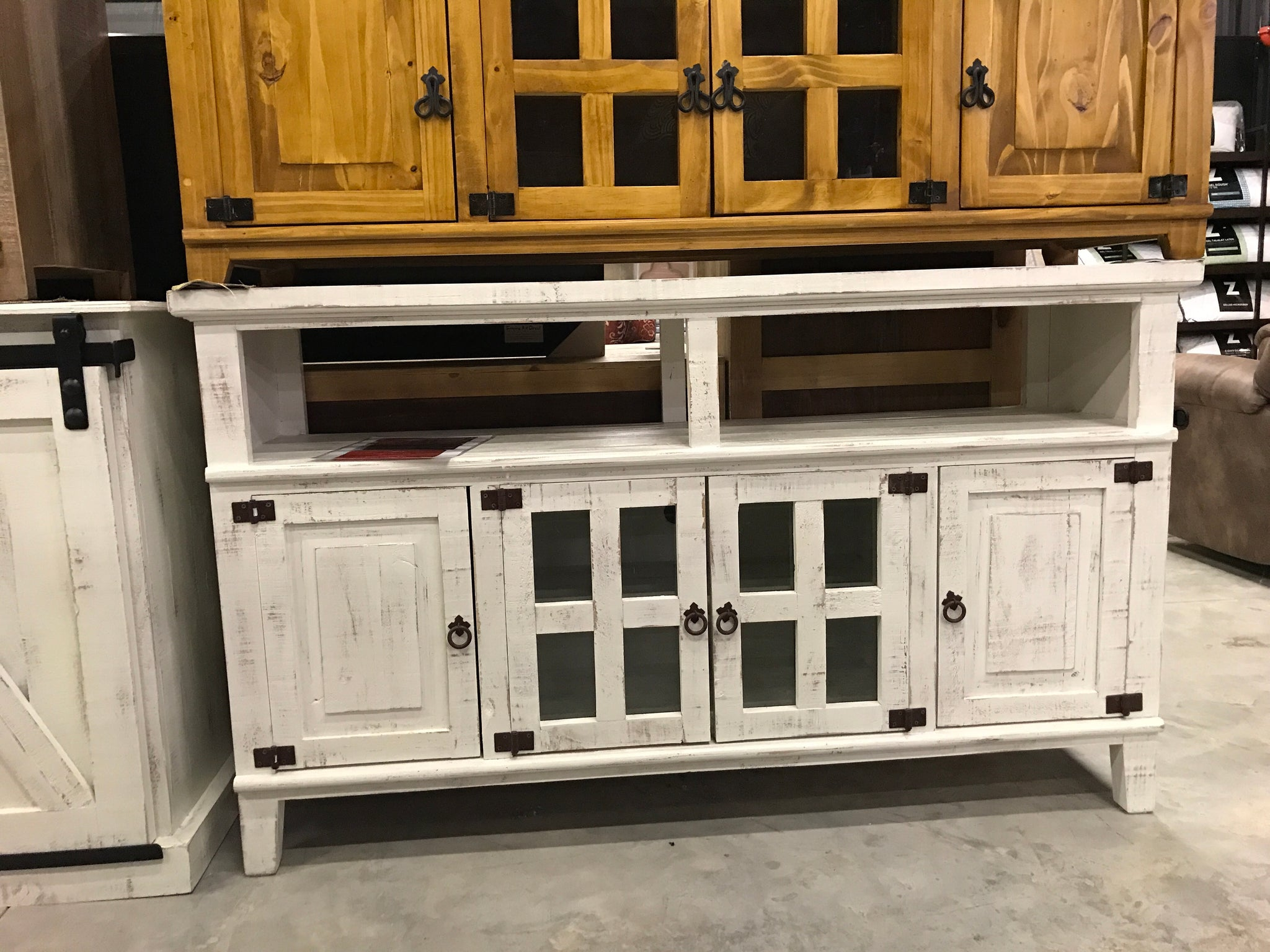 com19fi 60 tv stand distressed white - Distressed White Tv Stands