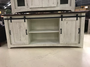 "2133FI Barndoor  72"" TV Stand with Mess Distressed White"