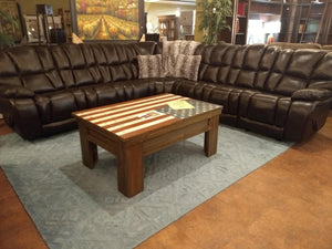 2124fiChM Leather Sectional