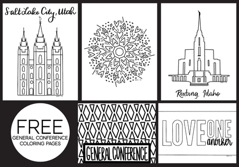 Free General Conference Coloring Pages Mama C Co
