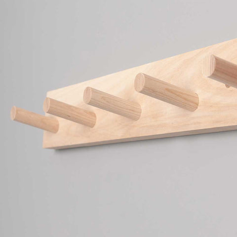 Olea Living Peg Rail interior design.  Scandinavian.  Solid Ash.  Head and Haft