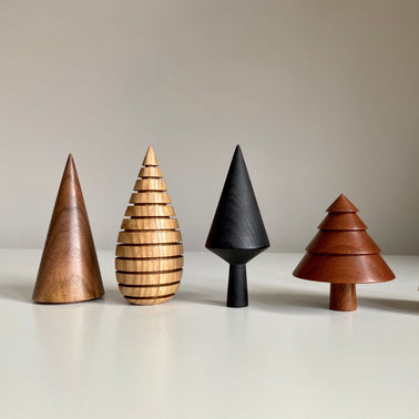 Wooden handmade tree for Olea Living by Forge Creative, Scandinavian design, Christmas decorations, Nordic Living