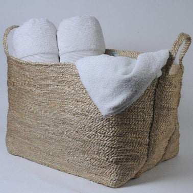 Large, Natural Jute Basket Maison Bengal Olea Living