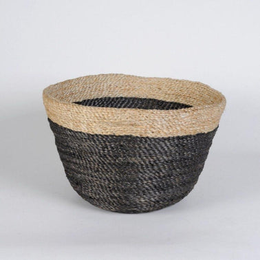 Jute two tone handmade basket, kitchen, quality Maison Bengal Olea Living