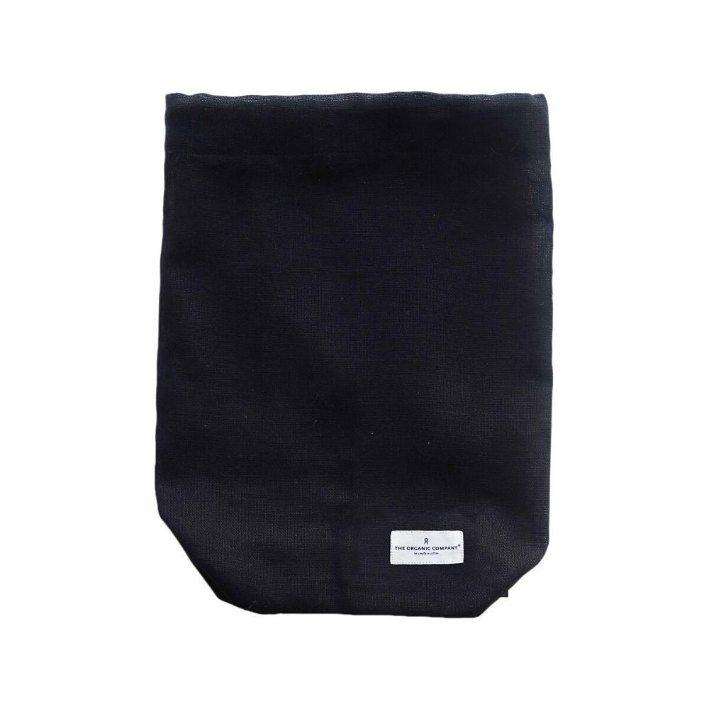 Organic cotton multi-purpose bag, small, medium or large, black or clay for Olea Living.