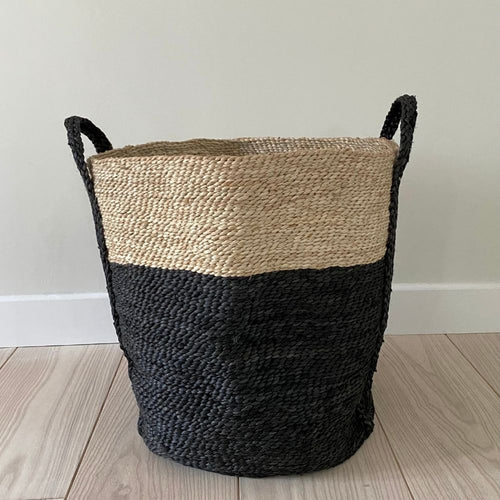 Jute basket, two tone from Maison Bengal for Olea Living, natural and simple design.