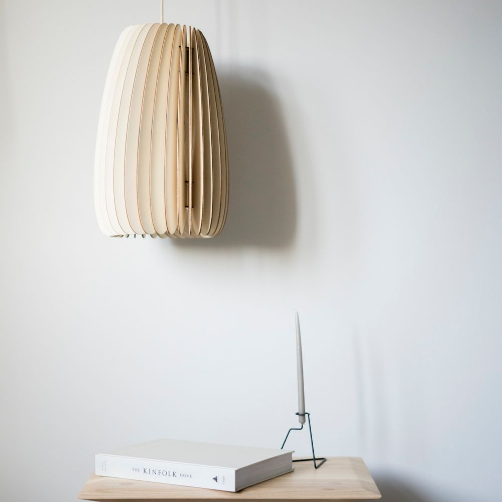Secundum poplar, natural pendant from Schneid Studios for Olea Living, Scandinavian design.