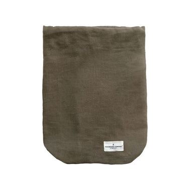 The Organic Company for Olea Living, cotton multipurpose, drawstring bag, clay, small, medium, large sizes.