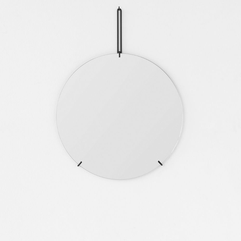 Moebe circular, round mirror for Olea Living, Scandinavian design, simple living, minimalist interiors
