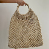 Jute Macrame Bag With Round Handle