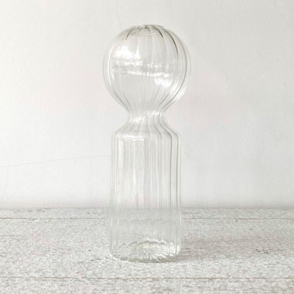 Handblown, clear glass, doll vase for Olea Living from Serax
