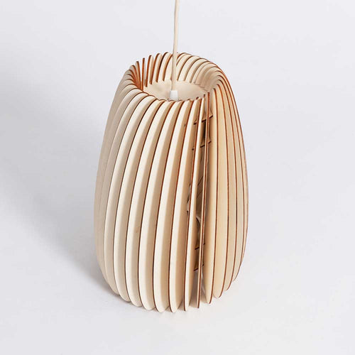 Secundum pendant, poplar, natural pendant with natural cord, Scandinavian design lighting from Schneid Studios for Olea Living
