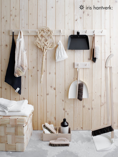 Seven hook rack/peg rail by Iris Hantverk for Olea Living. Scandinavian design. Storage.