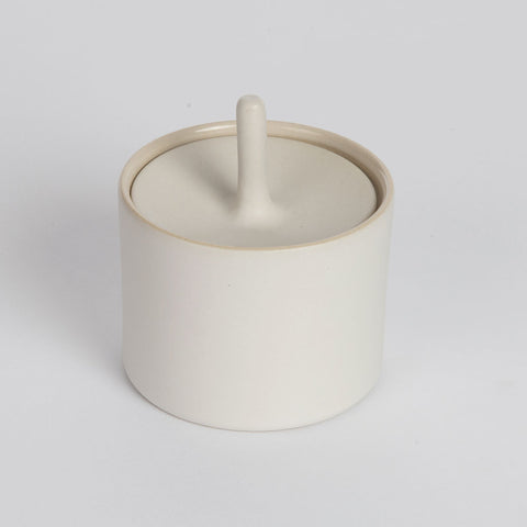 Olea Living.  Slip cast porcelain sugar pot. Smooth.  Contemporary design.  Sue Ure Maison