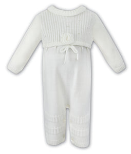 Sarah Louise Previous Season SALE - Ivory Knit Romper 008042