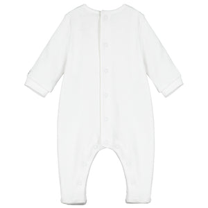 NEW AW20 Emile et Rose Mallory White Unisex Babygrow and hat
