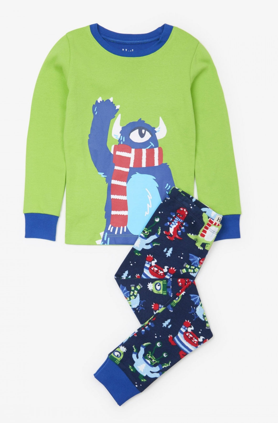 BLACK FRIDAY - ALL ITEMS £15.00 - Hatley Cosy Monsters organic cotton Christmas pjs