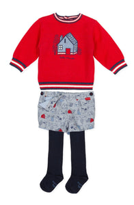 NEW AW20 Tutto Piccolo Boys Jumper, Shorts and Tights Outfit