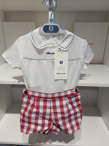 NEW SS21 Tutto Piccolo Red check boys set