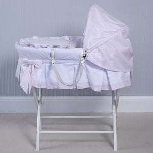 NEW SS20 Emile et Rose Pink Dressed Moses Basket PRE ORDER ONLY