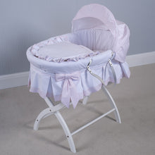 Load image into Gallery viewer, NEW SS20 Emile et Rose Pink Dressed Moses Basket PRE ORDER ONLY