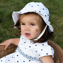 Load image into Gallery viewer, NEW SS20 Emile et Rose Sera Navy spot sunhat