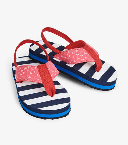 NEW SS19 Hatley Nautical Stripe flip flops