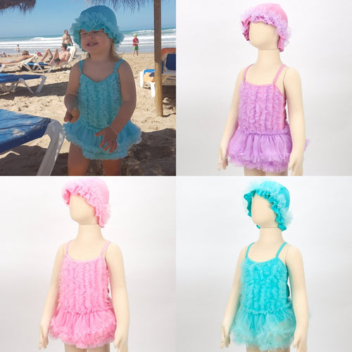 Grace tutu swimsuit and hat