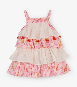 NEW SS19 Hatley ruffle giraffe dress