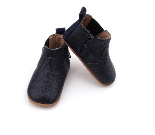 NEW AW20 Navy leather Paris Olivia Soft Sole Boots