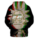 Rick and Morty Hoodies - Diffused Rasta Rick