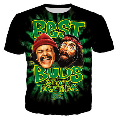 Cheech And Chong - Best Buds Stick Together - Women's Short Sleeve O-neck Tee