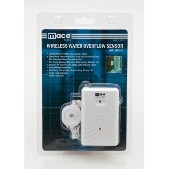 Retail packaging for Wireless Water Overflow Sensor with Built-In Alarm by MSI