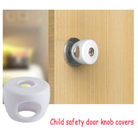 (4 Pack) KinderGard Baby Safety Door Knob Covers to Child Proof Doors