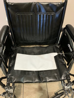 7x15 Chair Pad centers on wheelchair