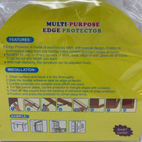 Extra Wide Corner Guard Baby Proofing Adhesive Edge Cushion (Brown)