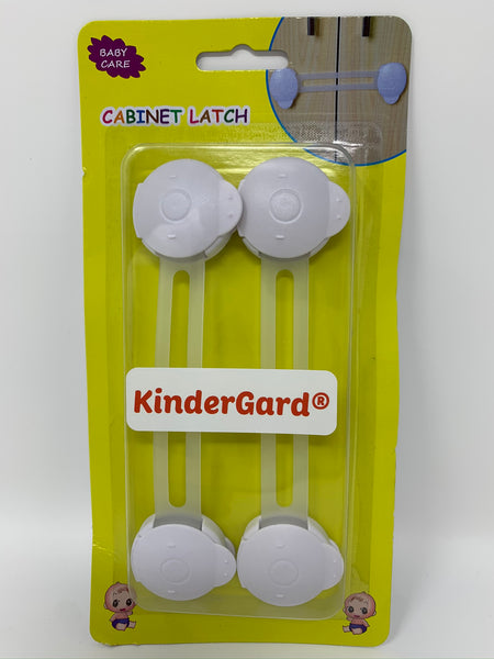 Kindergard Babyproof 2-Pack Cabinet Guards, Multi-Purpose Latches / Locking Straps for Refrigerators, Cabinets, Drawers, Dishwasher, Toilet
