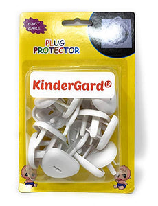 Kindergard Babyproof Outlet Covers, 24 pack White, Electrical Safety Outlet Plugs