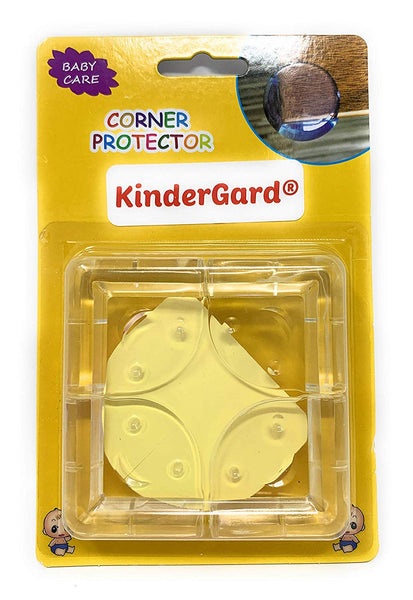 KinderGard BabyProof Child Safety Corner Protector, Medical Grade Clear Edge Softeners, Child Proof Corner Bumpers, Set of 4 Corners