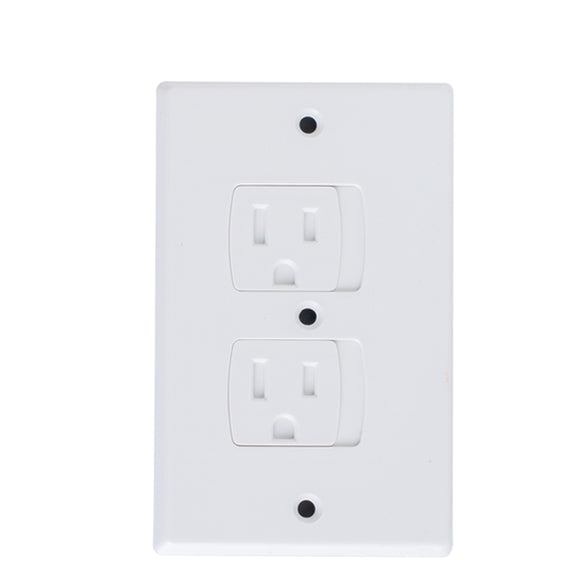 (2-Pack) Safety Outlet Cover by KinderGard, Self-Closing Socket Protector for Babyproofing Outlets