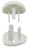 Kindergard Babyproof Locking Outlet Covers, 14 Pack White + 2 Keys, Electrical Safety Outlet Plugs