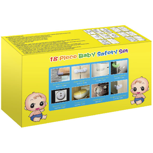 Kindergard Babyproof 18-Piece Home Safety Starter Set, Baby Shower Gift Set