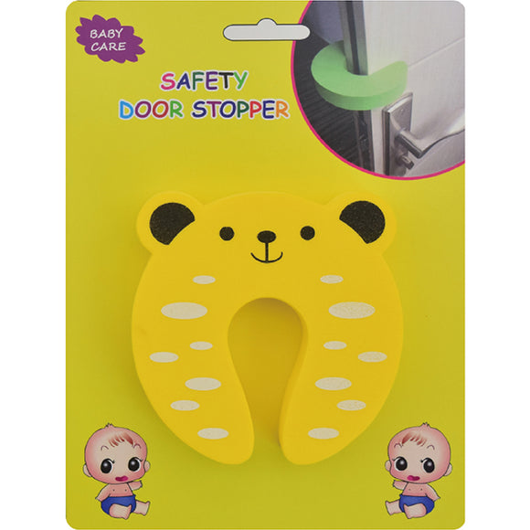 Kindergard Babyproof Safety Foam Door Stopper, Yellow, Stop Fingers From Getting Smashed or Pinched