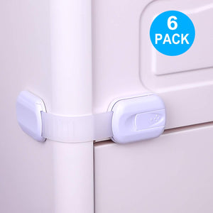 Kindergard Babyproof 6-Pack Cabinet Guards, Multi-Purpose Latches / Locking Straps for Refrigerators, Cabinets, Drawers, Dishwasher, Toilet
