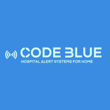 logo for code blue alarm series of hospital quality alerts for home