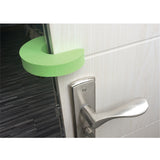Kindergard Babyproof Safety Foam Door Stopper, Green, Stop Fingers From Getting Smashed or Pinched